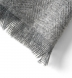 Light Grey Cashmere Herringbone Scarf Product Thumbnail 2