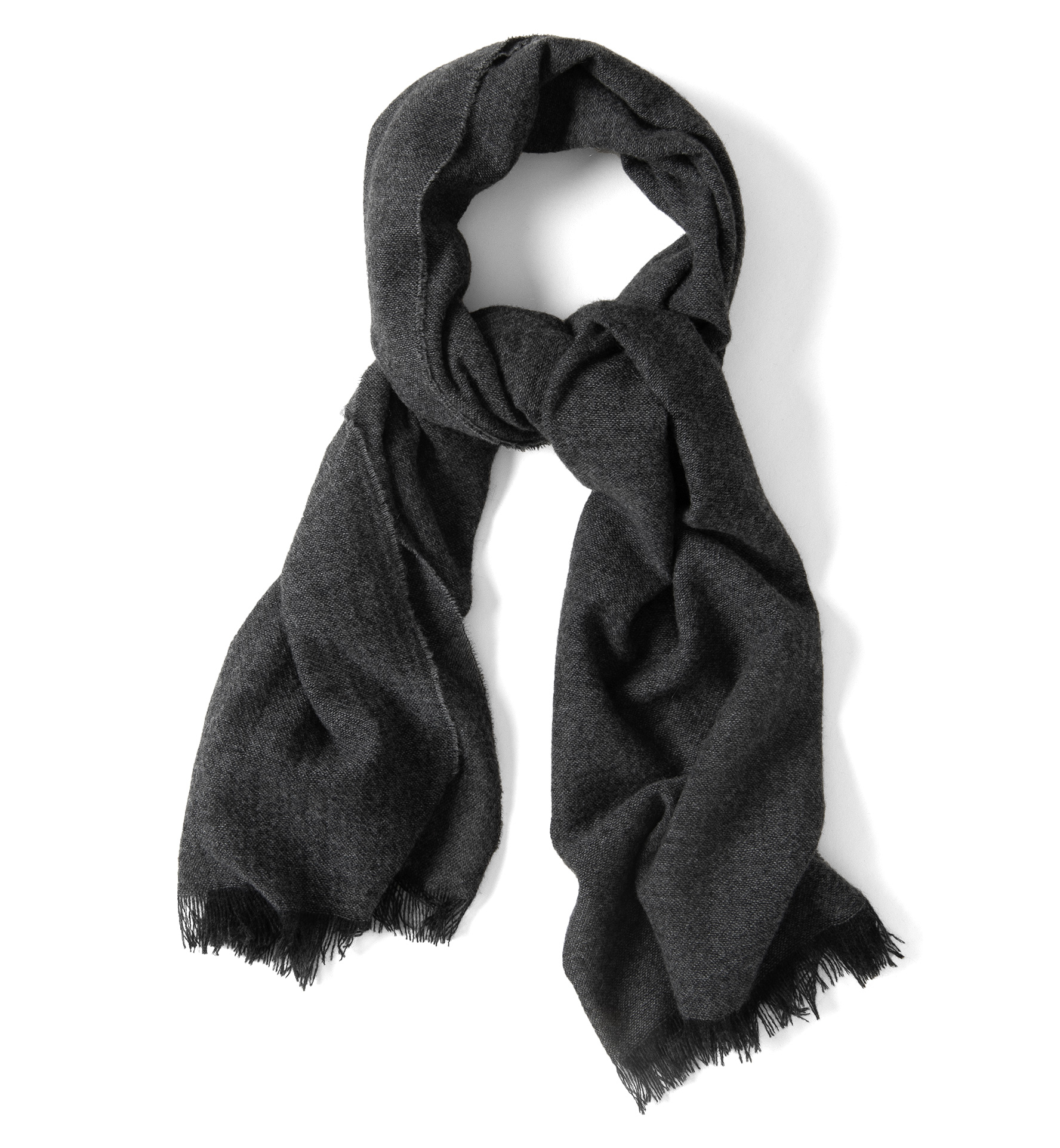Zoom Image of Grey Cashmere Scarf