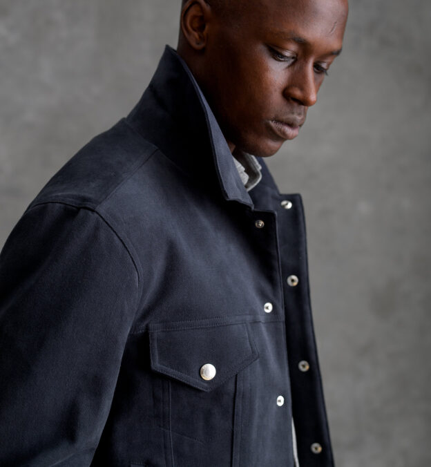 Lafayette Slate Brushed Cotton Jacket