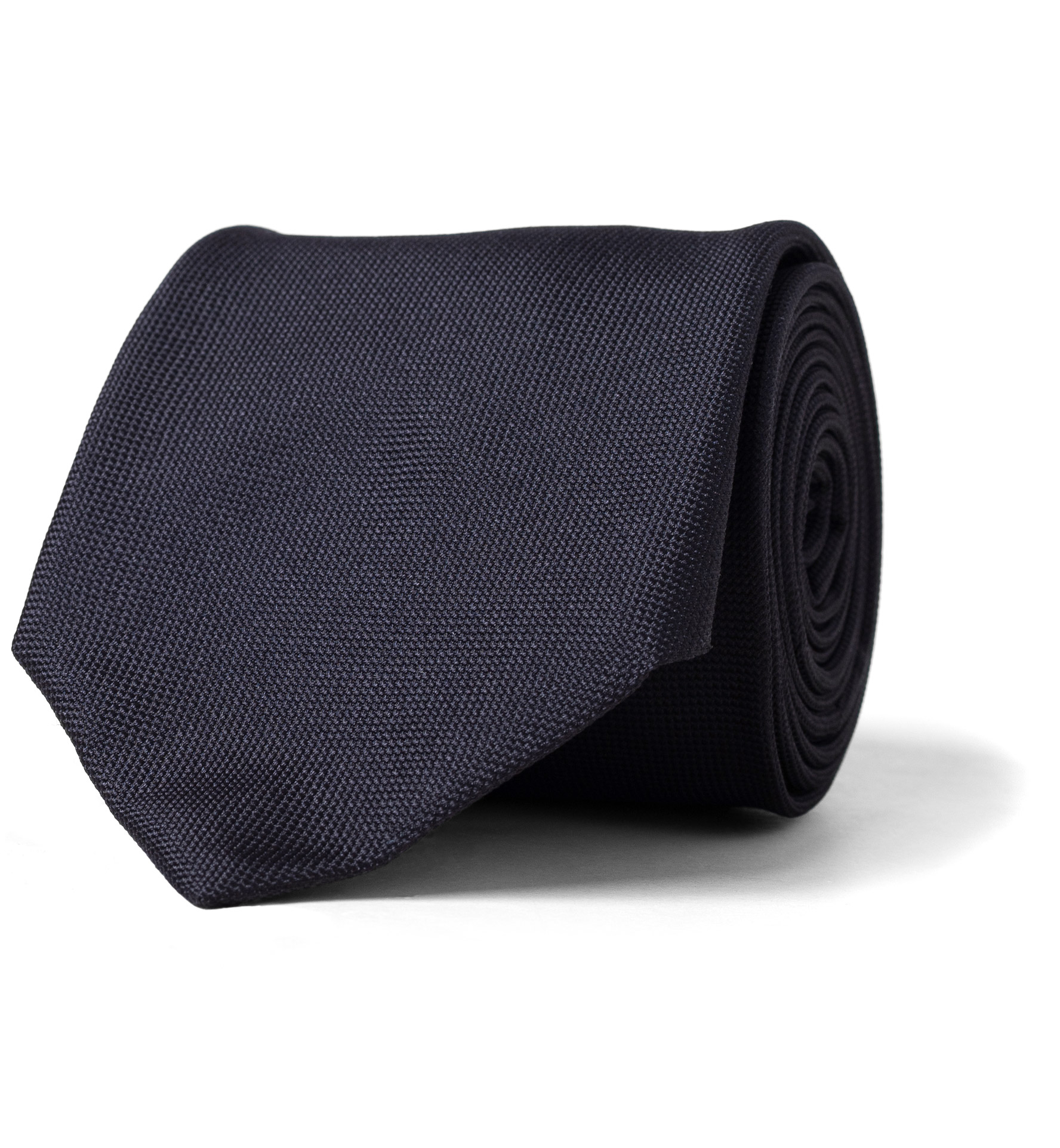 Zoom Image of Navy Textured Silk Tie