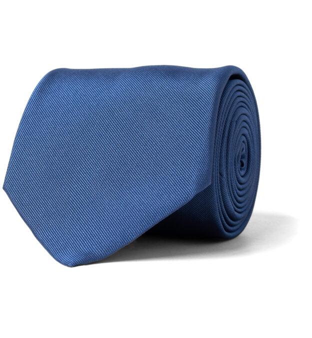 Storm Blue Silk Repp Tie