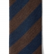 Zoom Thumb Image 1 of Chestnut and Navy Striped Wool Tie