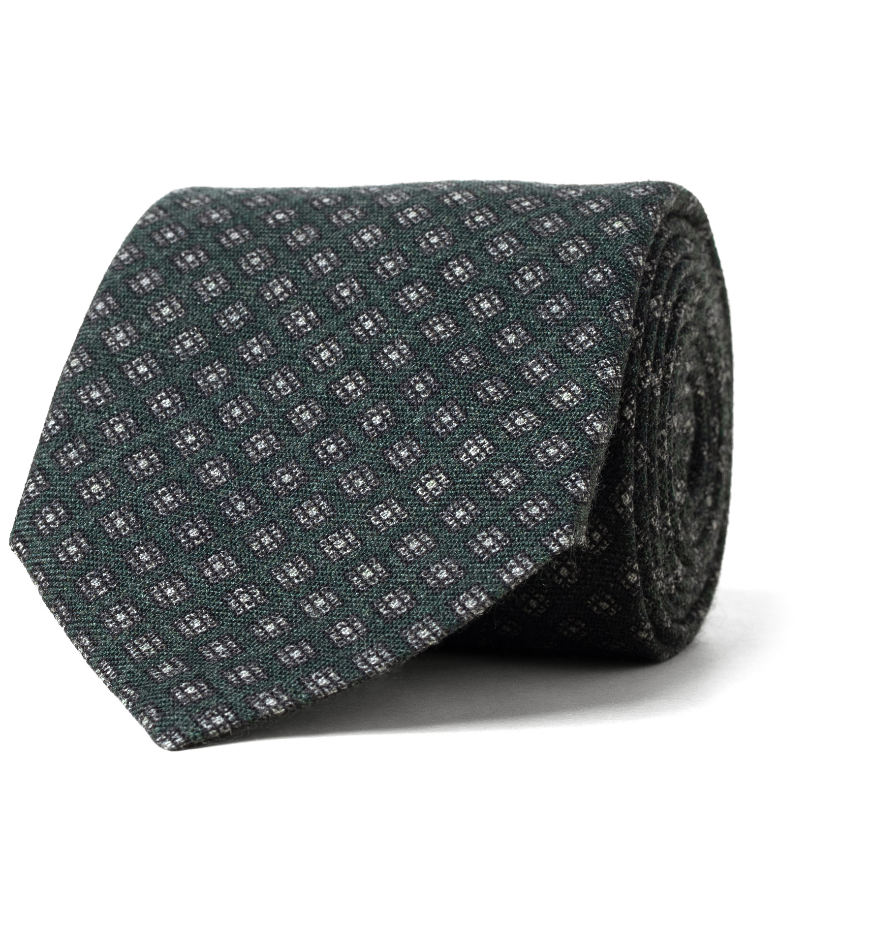 Zoom Image of Forest and Grey Foulard Wool Tie