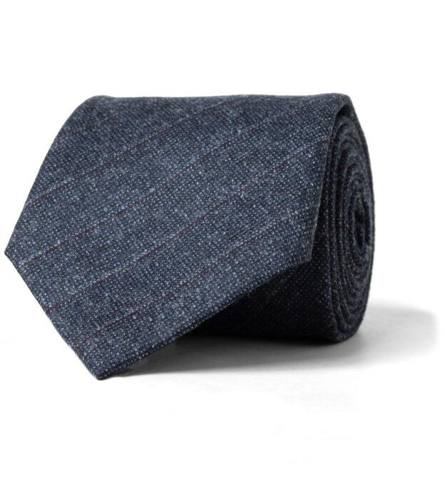 Slate Pinstripe Wool Tie