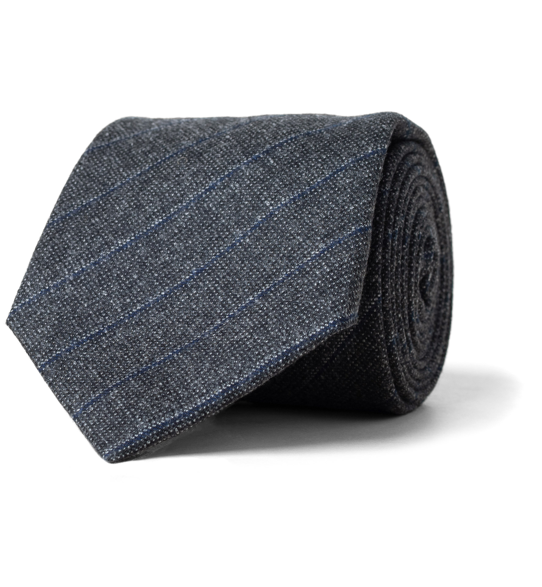 Zoom Image of Grey Pinstripe Wool Tie