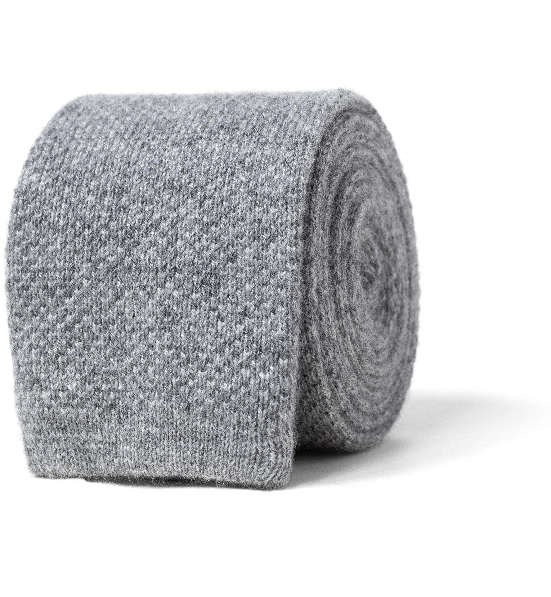 Zoom Image of Grey Cashmere Knit Tie