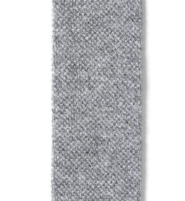 Grey Cashmere Knit Tie
