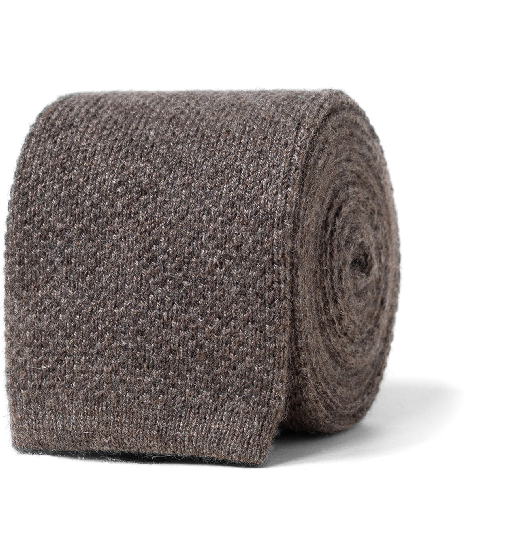 Zoom Image of Taupe Cashmere Knit Tie