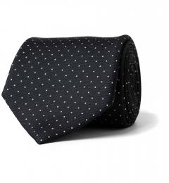 672643a5be82 Black Pindot Silk Tie