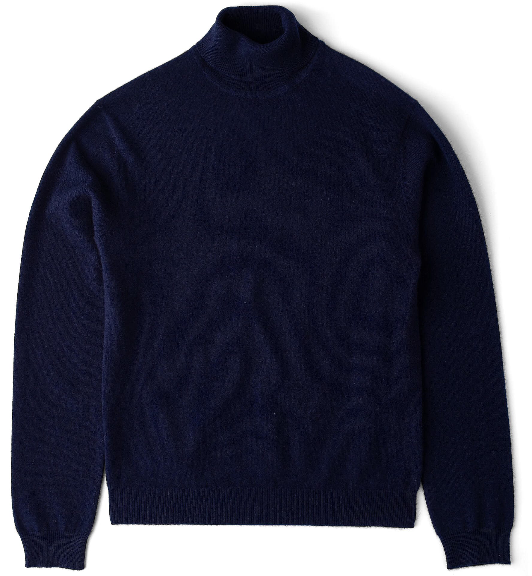 Zoom Image of Navy Cashmere Turtleneck Sweater