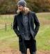 Zoom Thumb Image 6 of Bleecker Charcoal Herringbone Wool and Cashmere Coat