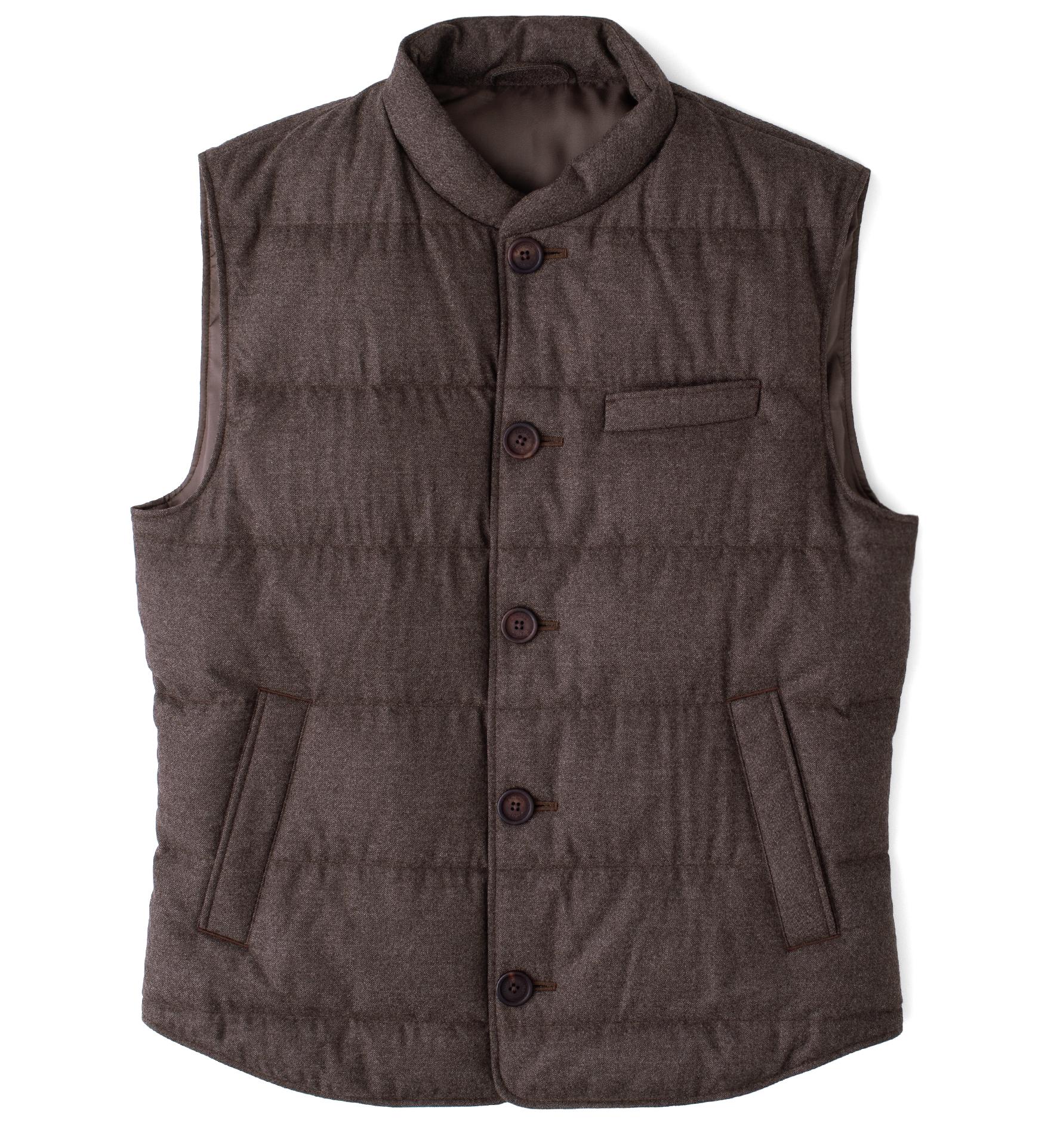Zoom Image of Cortina II Chestnut Flannel Button Vest