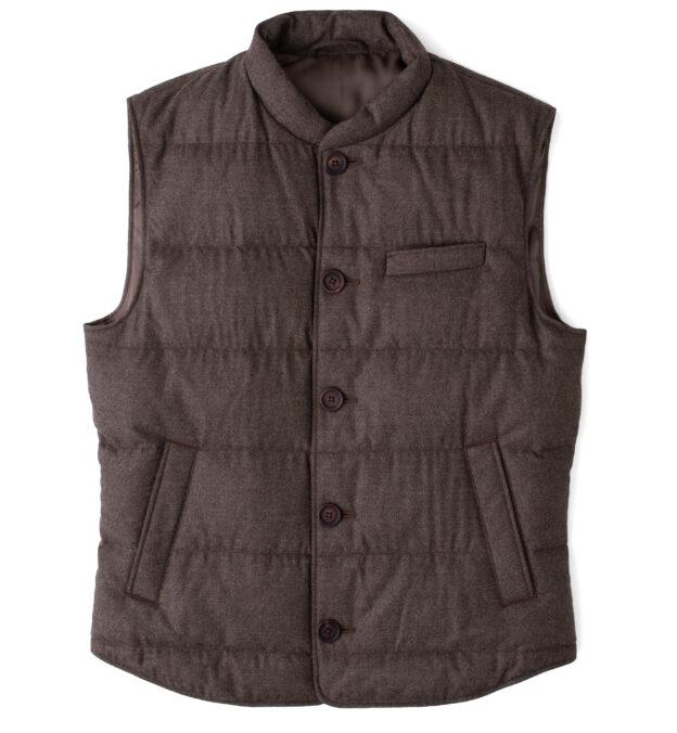 Cortina II Chestnut Flannel Button Vest