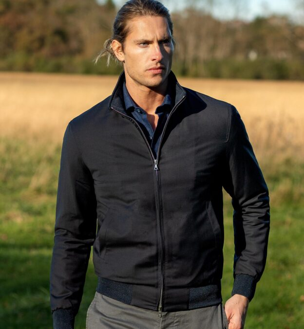 Lucca Navy Performance Wool Jacket