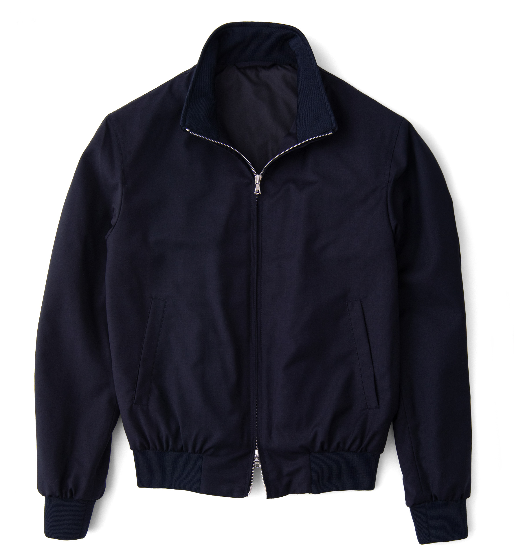Zoom Image of Lucca Navy Performance Wool Jacket