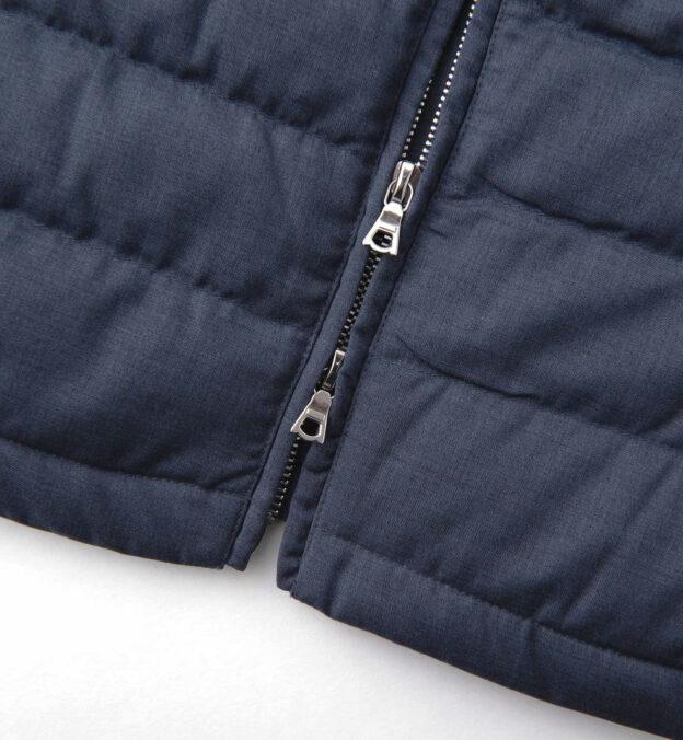 Brera Slate Merino Wool Zip Vest