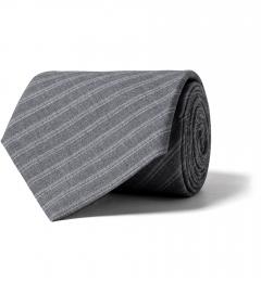 1c278764a905 Grey Striped Tropical Wool Tie
