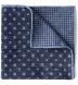 Zoom Thumb Image 1 of Navy and Light Blue Dot Print Pocket Square