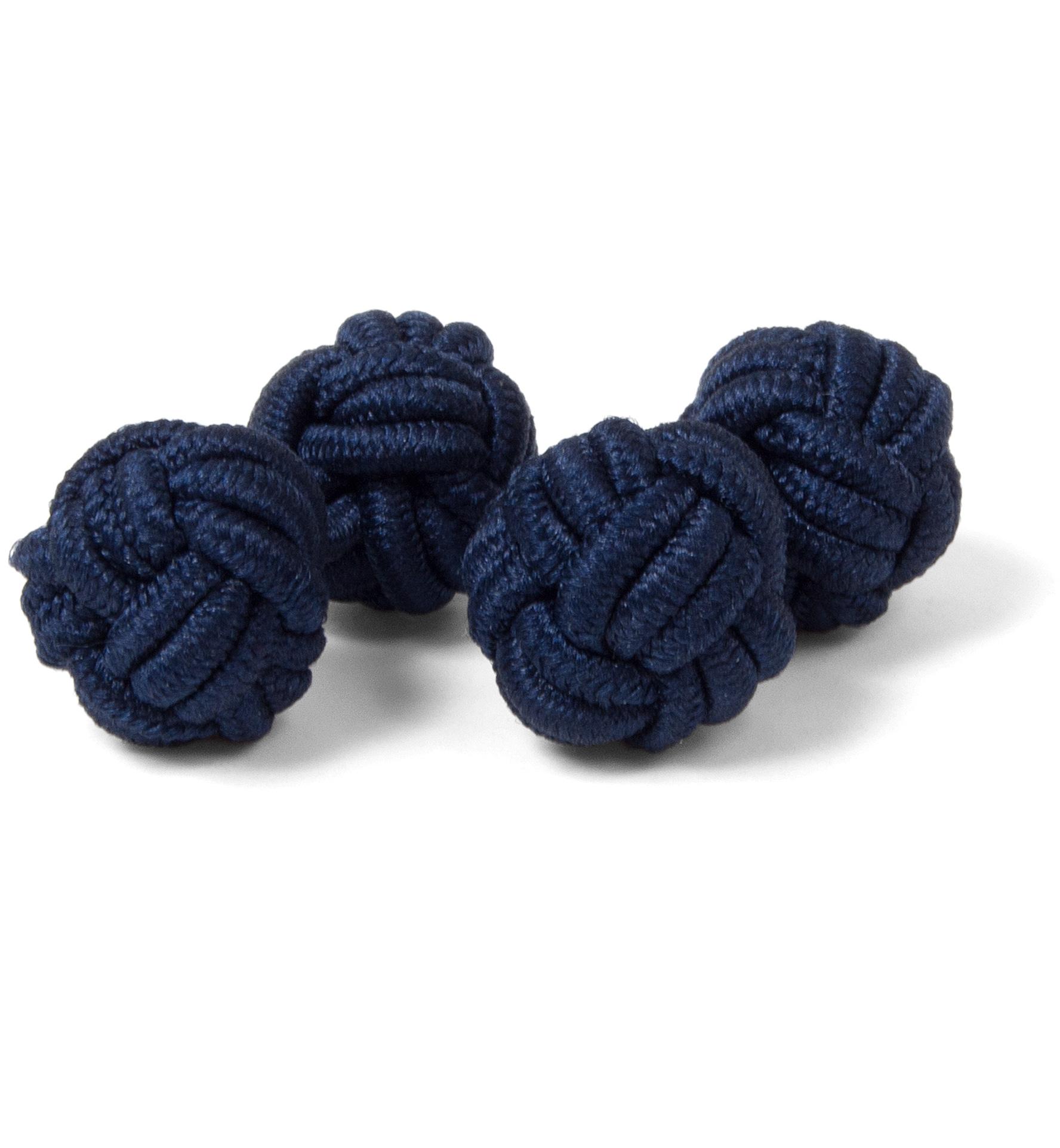 Zoom Image of Navy Silk Knots