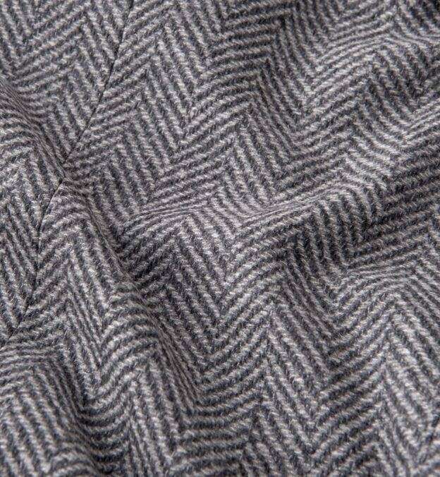 Bleecker Light Grey Herringbone Coat