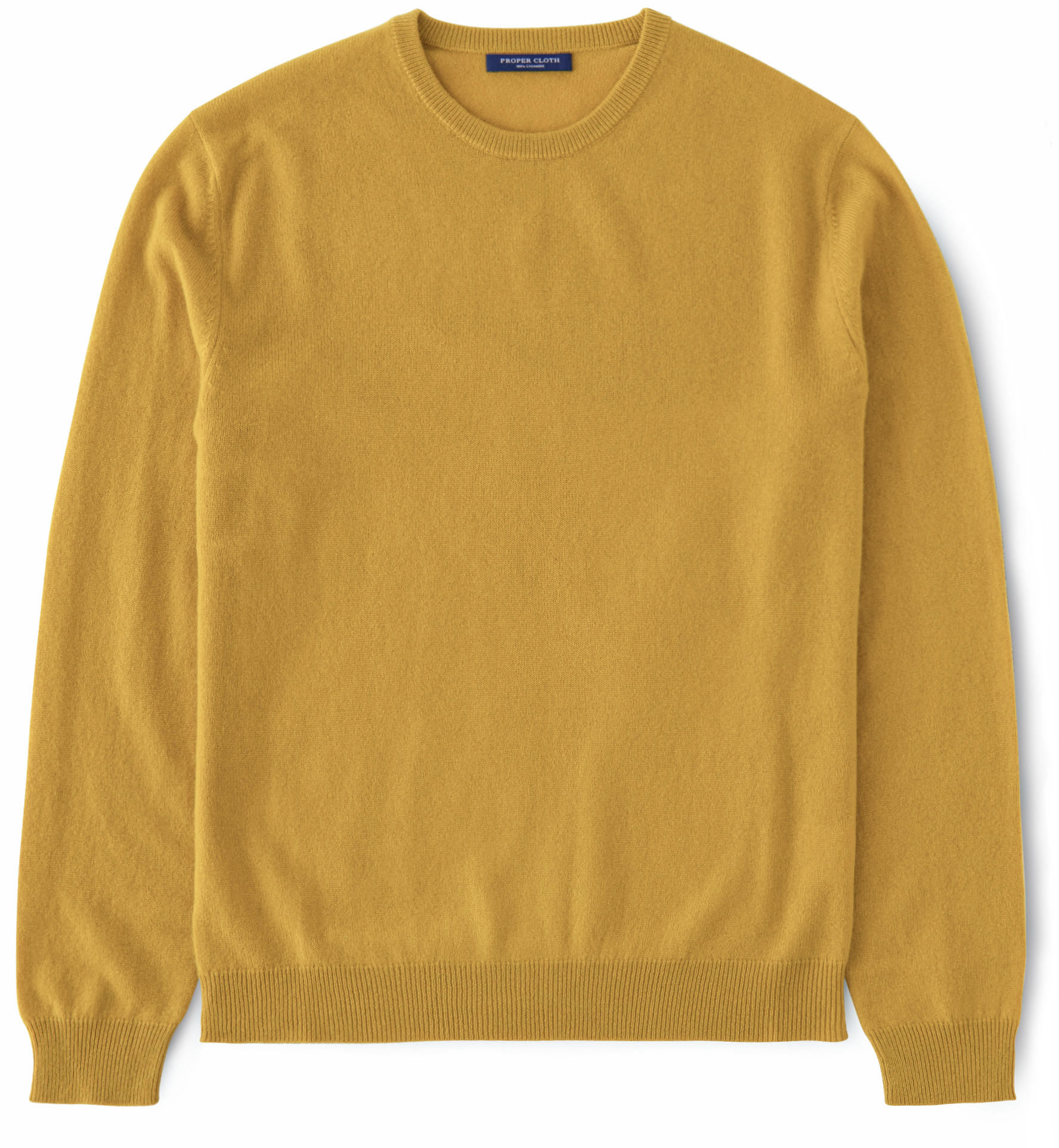 Zoom Image of Goldenrod Cashmere Crewneck