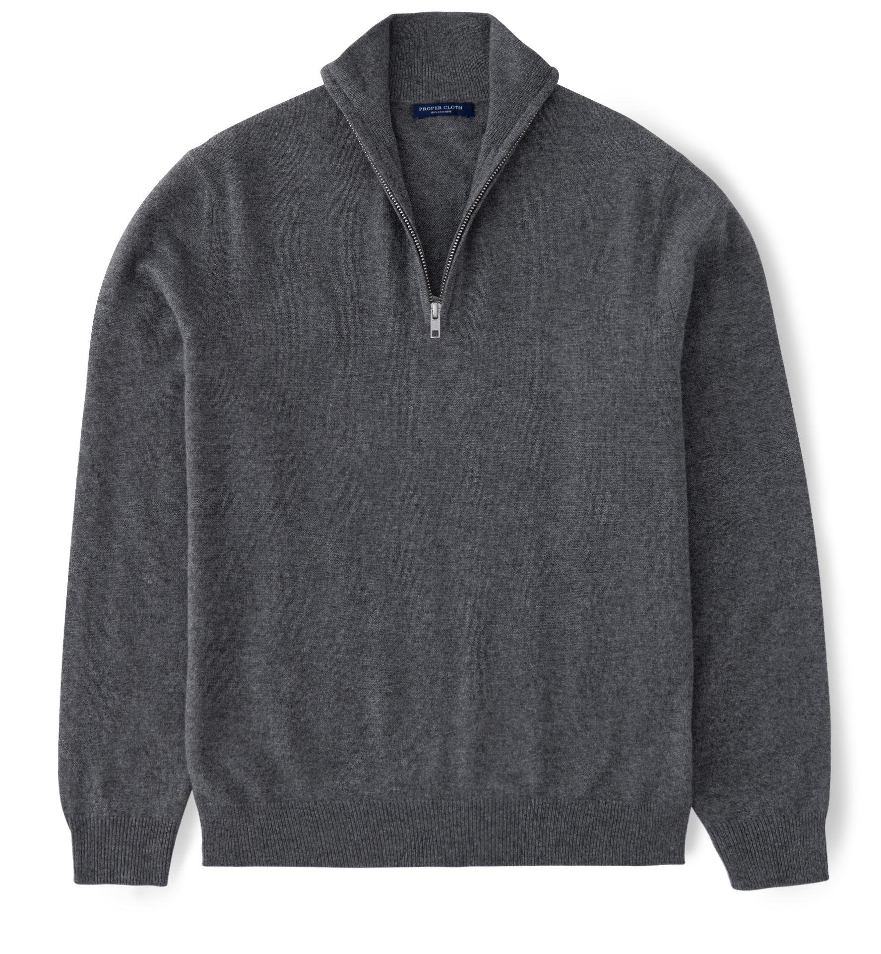 Half Zip Cashemere Sweater in 4 Colors