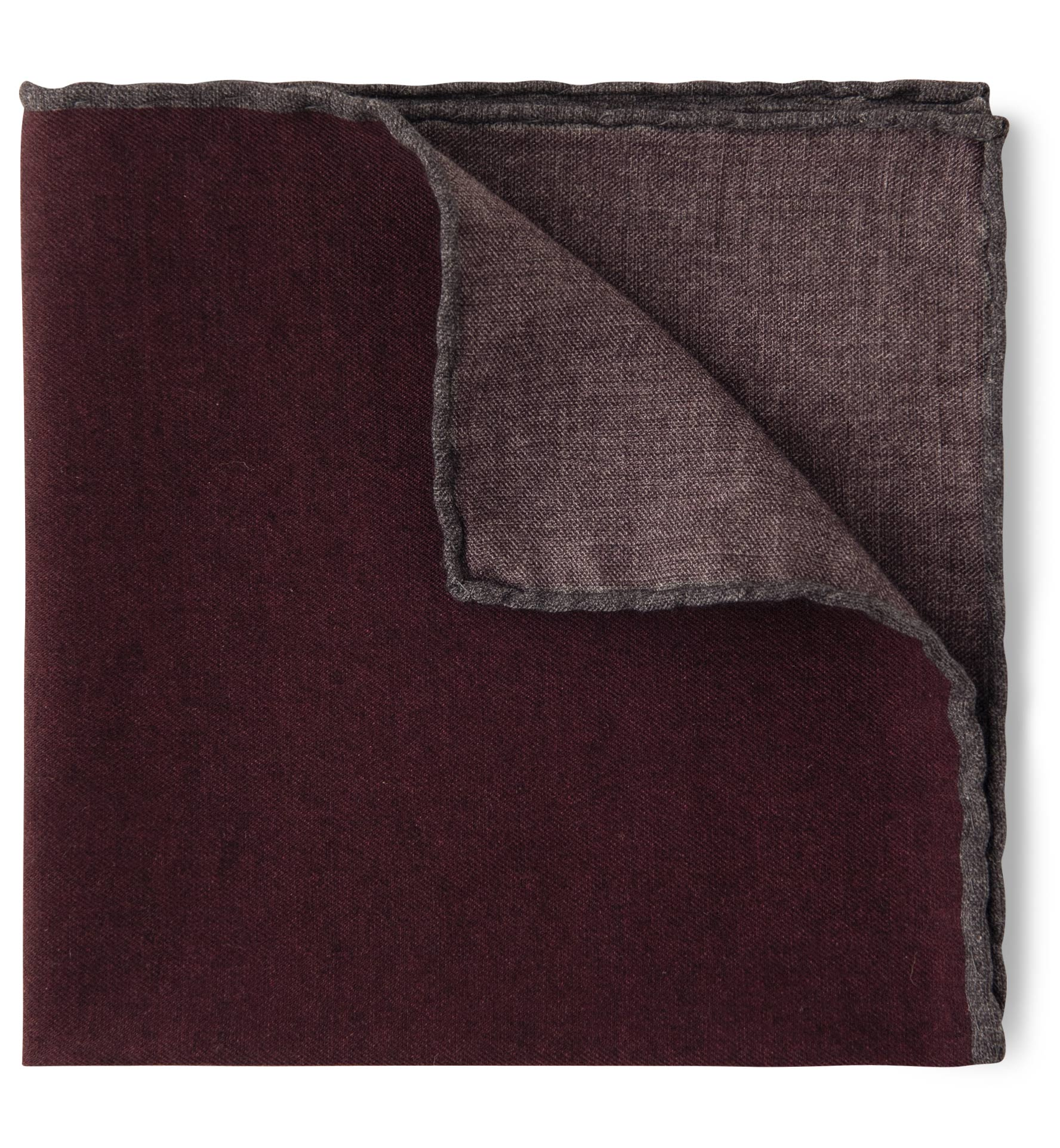 Zoom Image of Burgundy and Grey Pocket Square