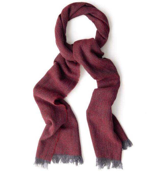 Scarlet Wool Gauze Scarf