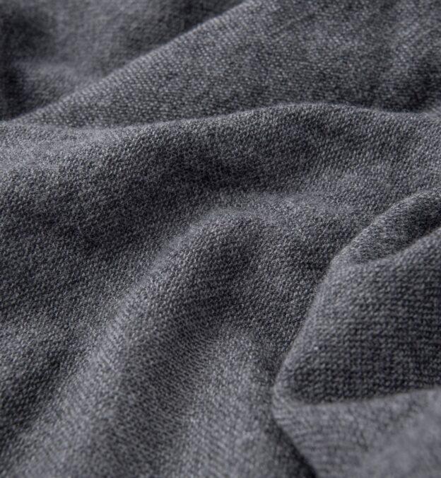 Grey Wool Gauze Scarf
