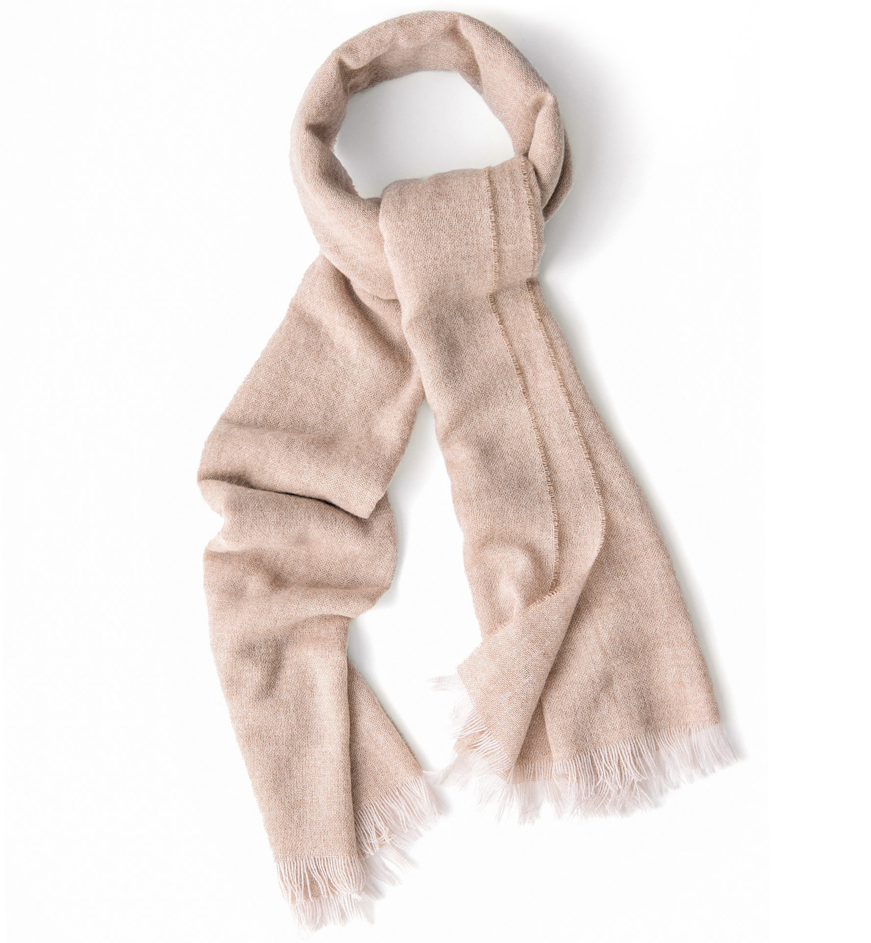 Zoom Image of Camel Wool Gauze Scarf