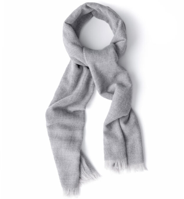 Light Grey Wool Gauze Scarf