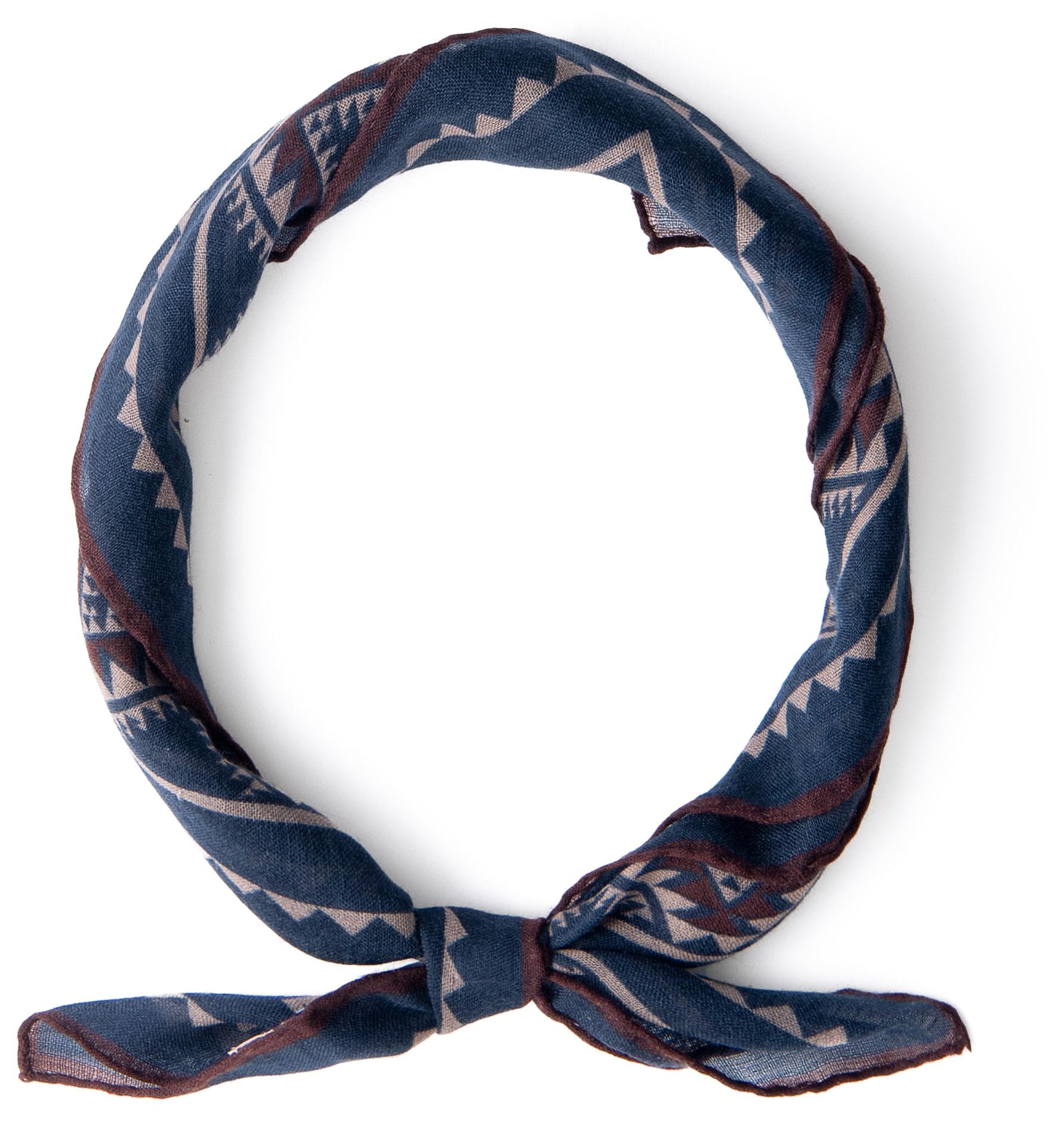 Zoom Image of Navy Southwest Wool Bandana