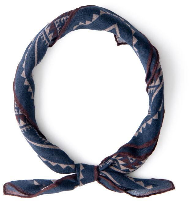 Navy Southwest Wool Bandana