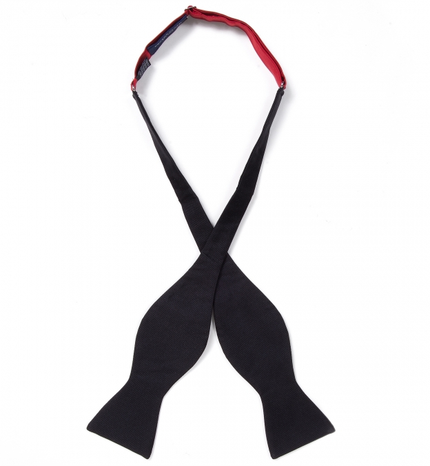 Black Grosgrain Bow Tie