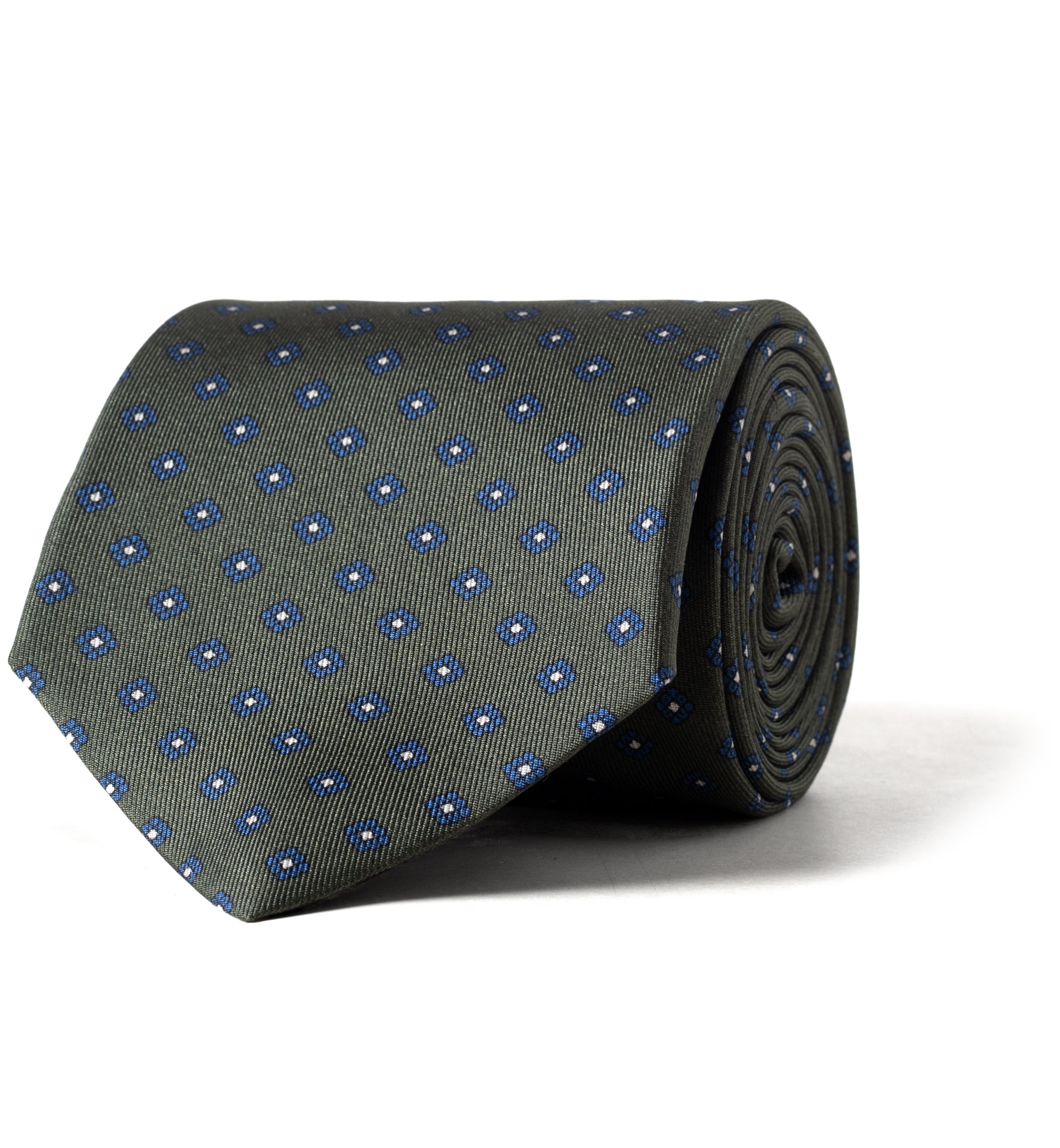Zoom Image of Fatigue Small Foulard Print Silk Tie