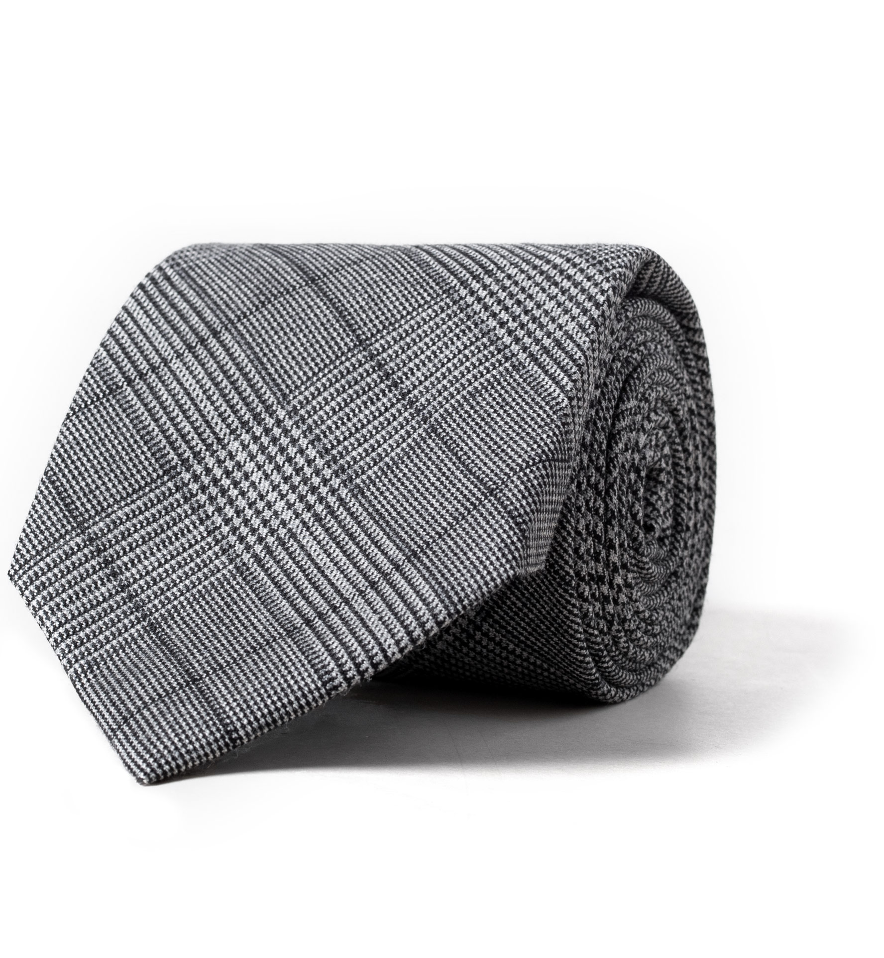Zoom Image of Grey Prince of Wales Check Wool Tie