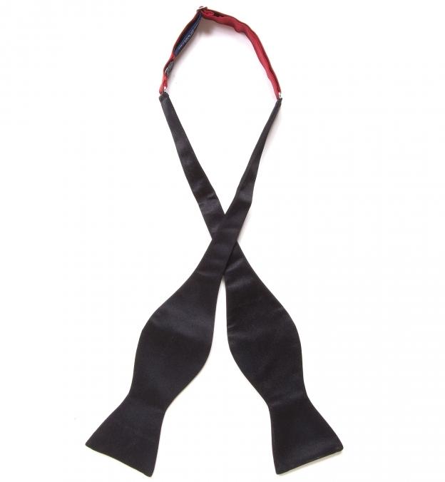 Black Satin Bow Tie