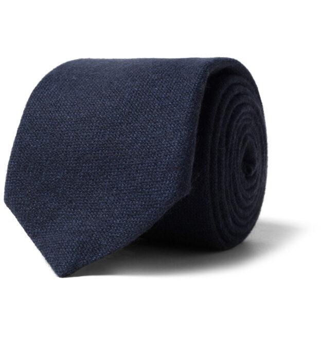 Navy Cashmere Tie