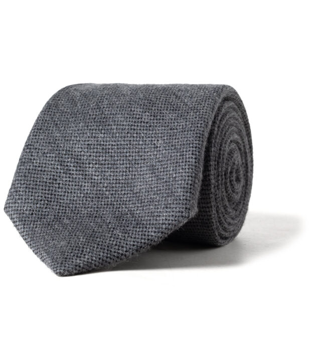 Grey Wool and Silk Tie