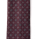 Zoom Thumb Image 2 of Burgundy Printed Wool Foulard Tie