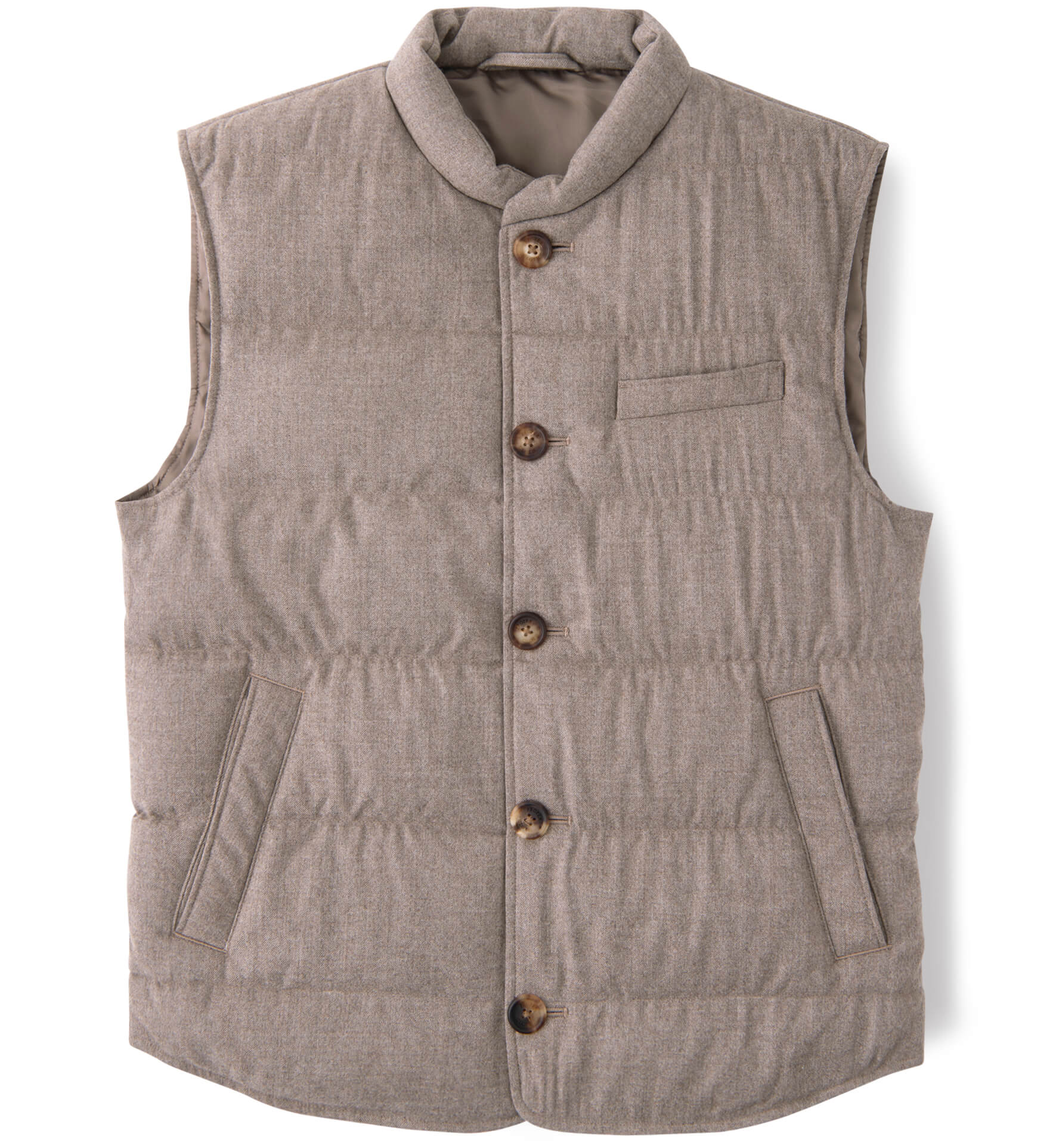 Zoom Image of Cortina Beige Performance Wool Button Vest