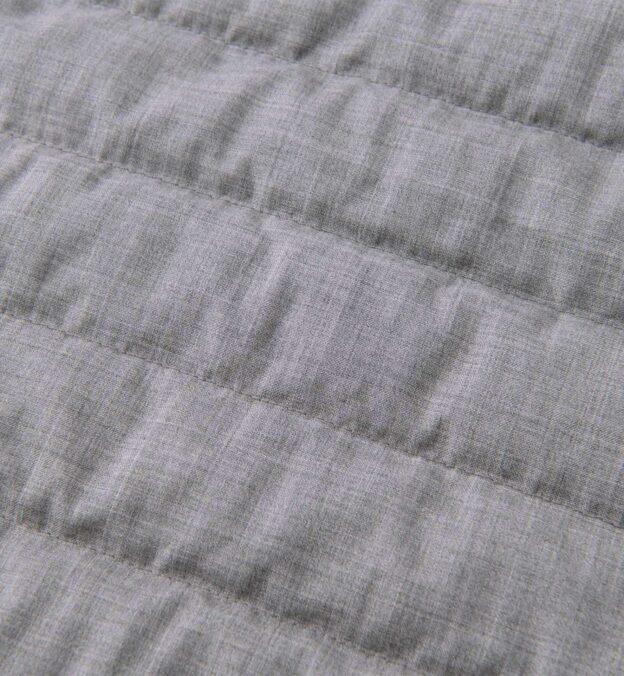 Brera Light Grey Merino Wool Zip Vest