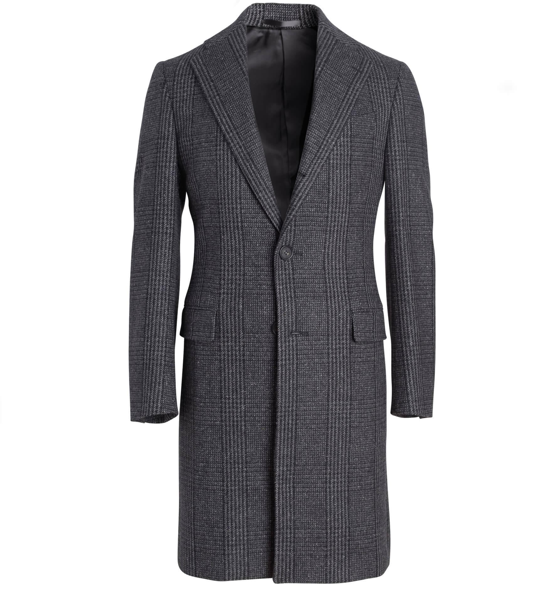 Zoom Image of Bleecker Grey Glen Plaid Coat