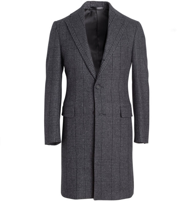 Bleecker Grey Wool Glen Plaid Coat