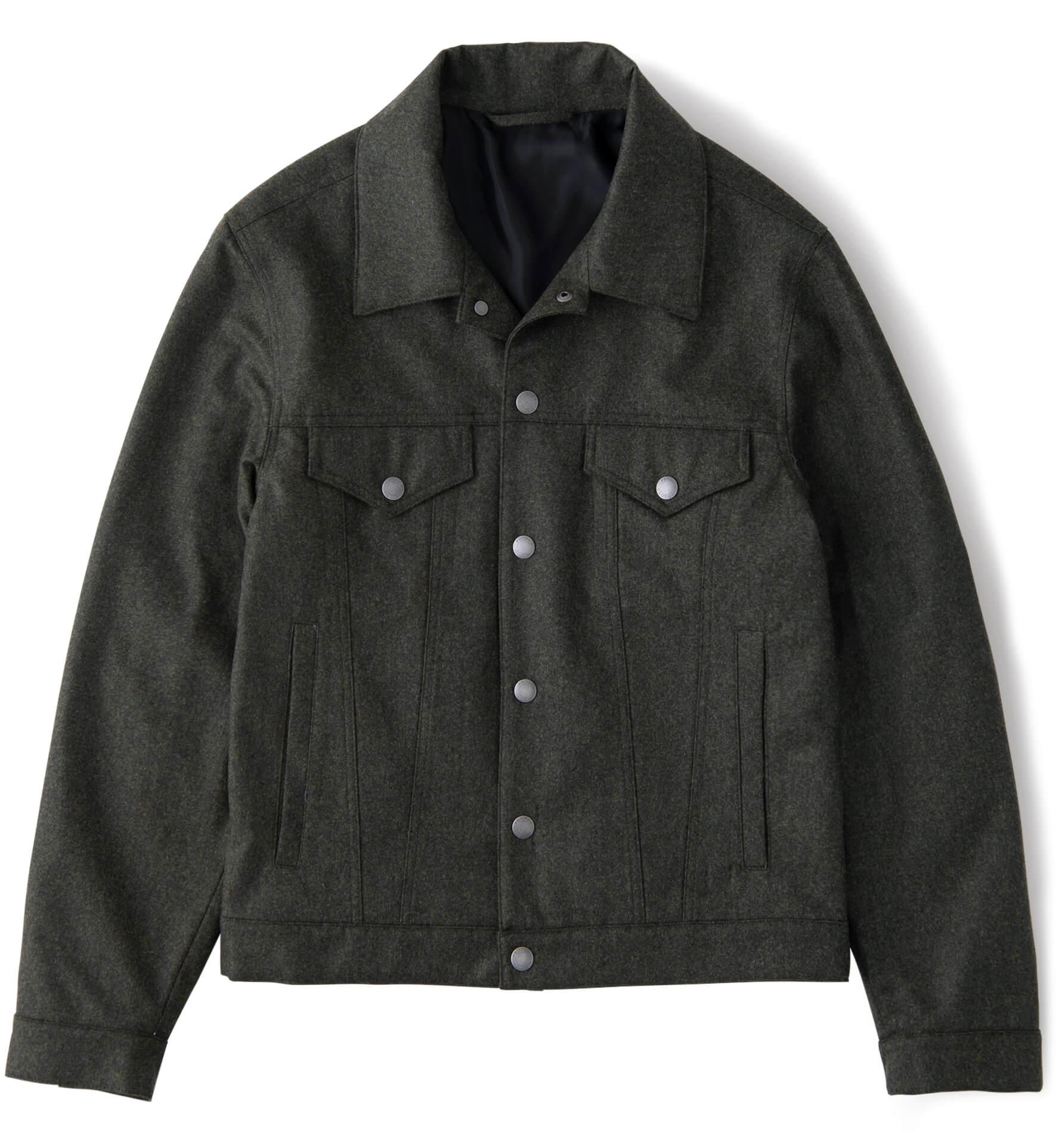 Zoom Image of Lafayette Pine Wool Trucker Jacket