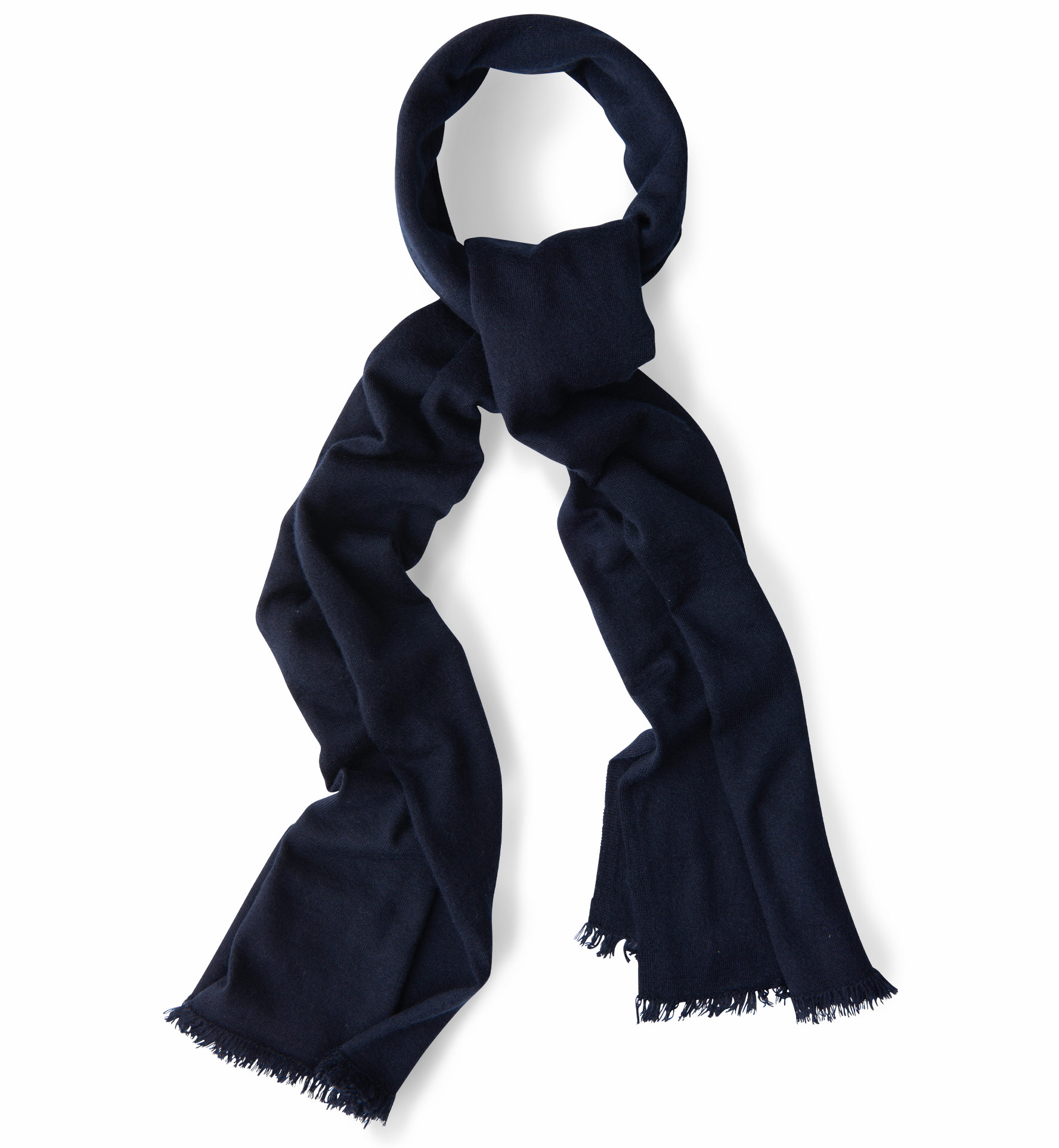 Zoom Image of Navy Italian Cashmere Knit Scarf