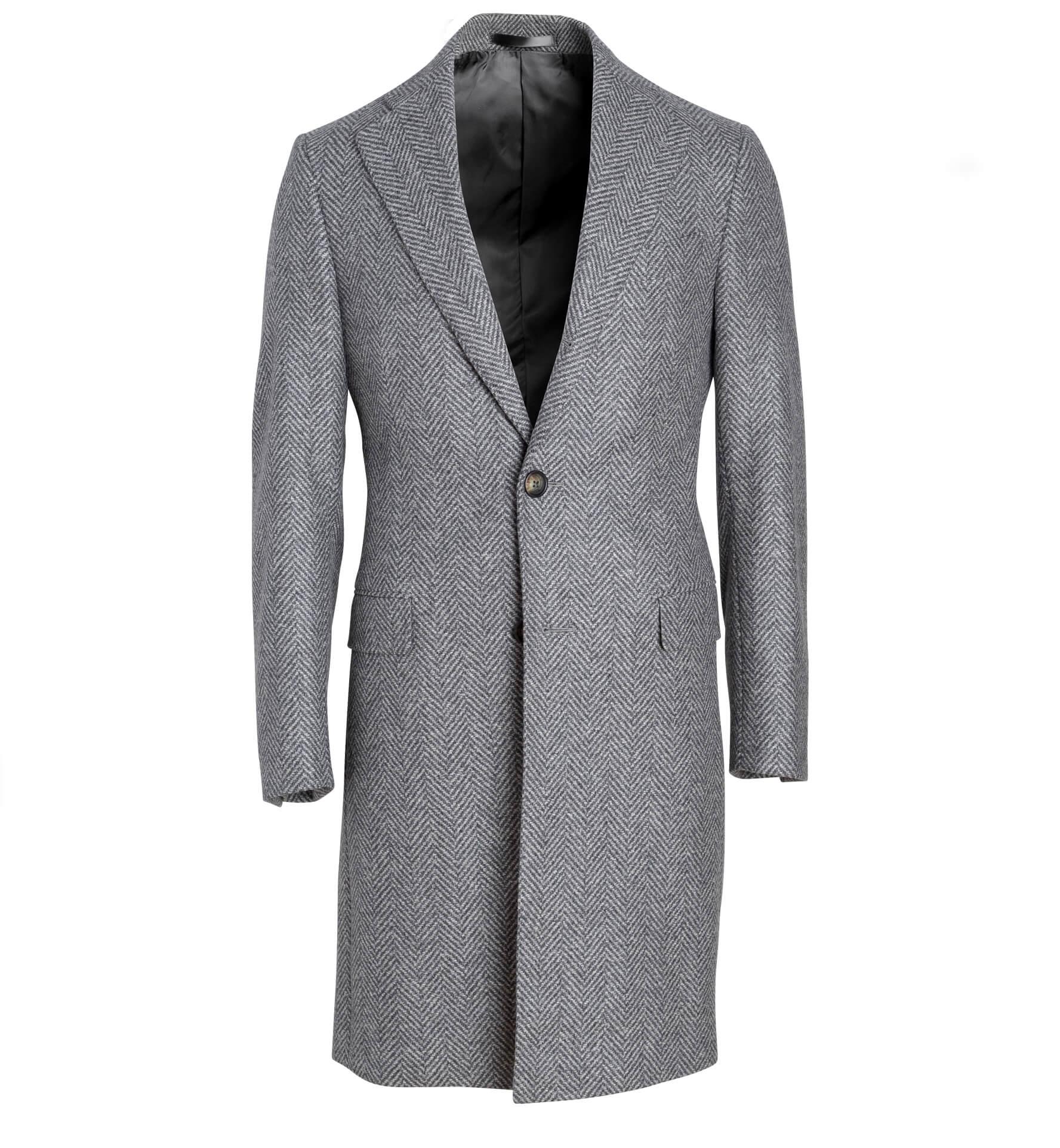 Zoom Image of Bleecker Light Grey Herringbone Coat