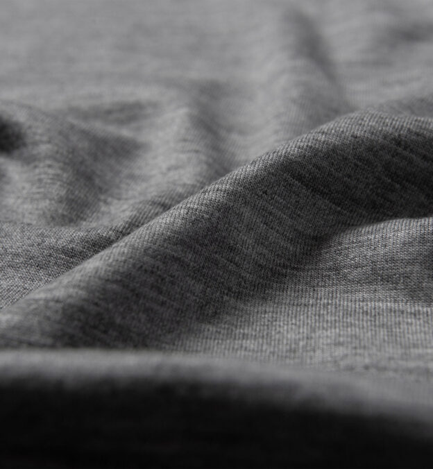 Pewter Merino Wool Crewneck T-Shirt