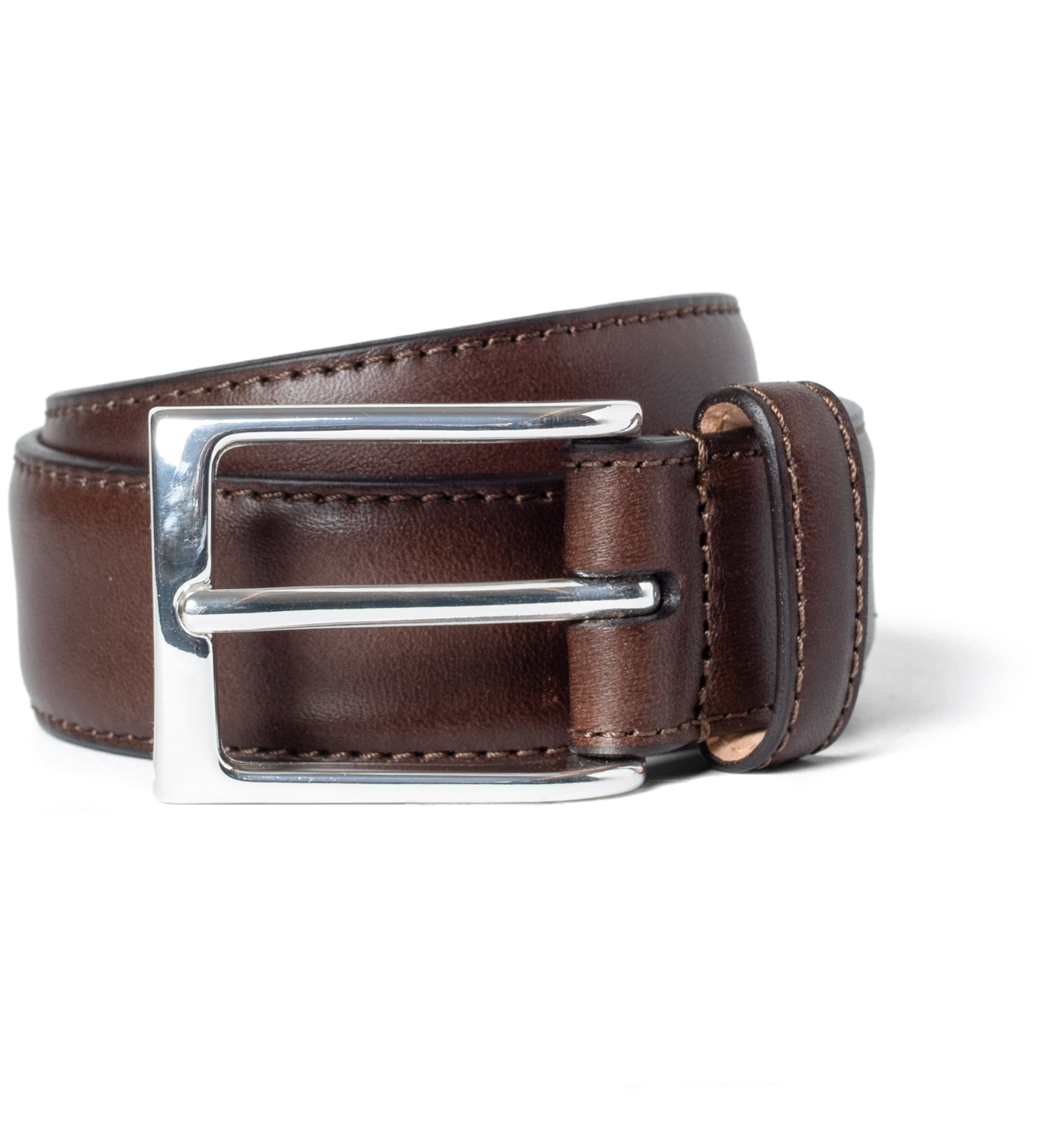 Zoom Image of Walnut Vachetta Leather Dress Belt