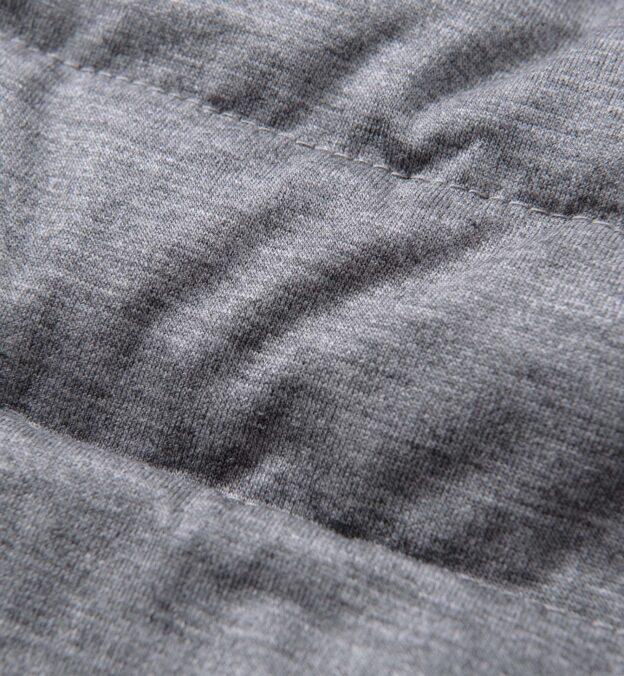 Brera Grey Knit Merino Wool Zip Vest